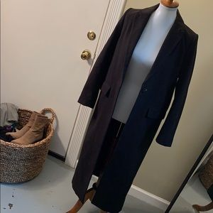 Dark trench coat